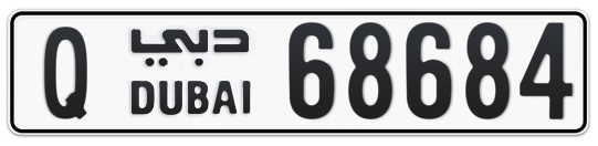 Q 68684 - Plate numbers for sale in Dubai