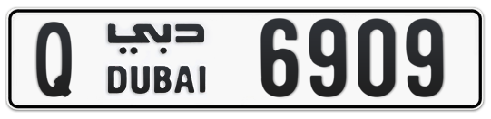 Q 6909 - Plate numbers for sale in Dubai