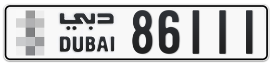 * 86111 - Plate numbers for sale in Dubai