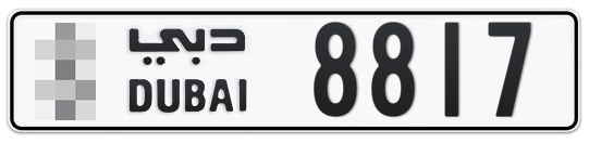 * 8817 - Plate numbers for sale in Dubai