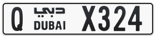 Q X324 - Plate numbers for sale in Dubai
