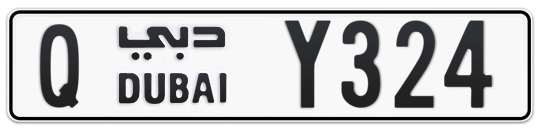 Q Y324 - Plate numbers for sale in Dubai