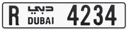 R 4234 - Plate numbers for sale in Dubai