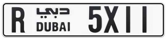 R 5X11 - Plate numbers for sale in Dubai