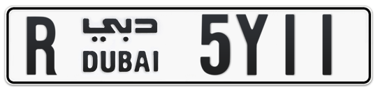 R 5Y11 - Plate numbers for sale in Dubai