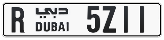 R 5Z11 - Plate numbers for sale in Dubai