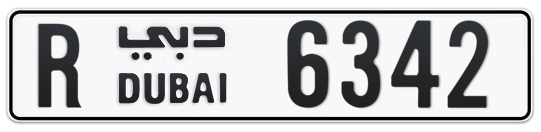 R 6342 - Plate numbers for sale in Dubai
