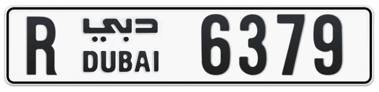 R 6379 - Plate numbers for sale in Dubai