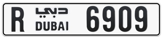 R 6909 - Plate numbers for sale in Dubai