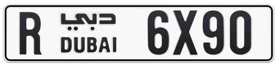 R 6X90 - Plate numbers for sale in Dubai