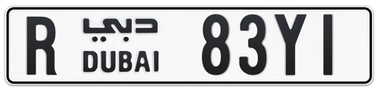 R 83Y1 - Plate numbers for sale in Dubai