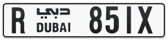 R 851X - Plate numbers for sale in Dubai
