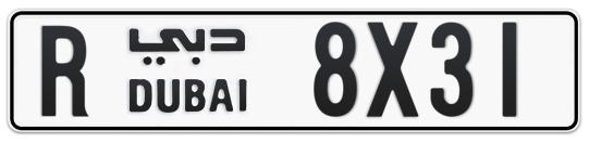 R 8X31 - Plate numbers for sale in Dubai