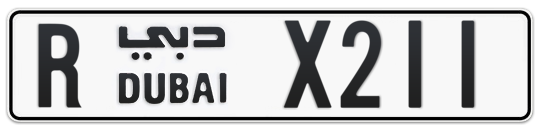 R X211 - Plate numbers for sale in Dubai
