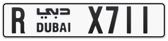 R X711 - Plate numbers for sale in Dubai