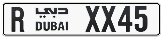 R XX45 - Plate numbers for sale in Dubai
