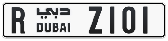 R Z101 - Plate numbers for sale in Dubai