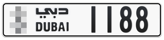 * 1188 - Plate numbers for sale in Dubai