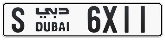 S 6X11 - Plate numbers for sale in Dubai