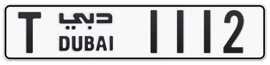 T 1112 - Plate numbers for sale in Dubai
