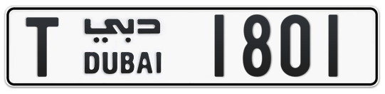 T 1801 - Plate numbers for sale in Dubai