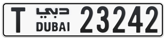T 23242 - Plate numbers for sale in Dubai