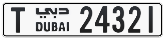 T 24321 - Plate numbers for sale in Dubai