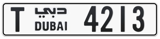 T 4213 - Plate numbers for sale in Dubai