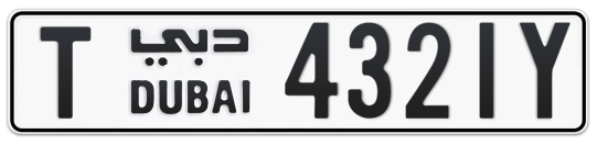 T 4321Y - Plate numbers for sale in Dubai