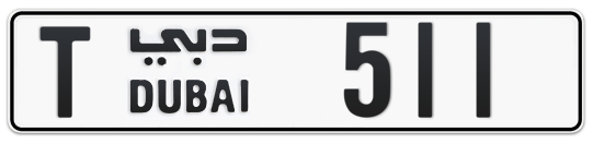 T 511 - Plate numbers for sale in Dubai