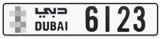 * 6123 - Plate numbers for sale in Dubai