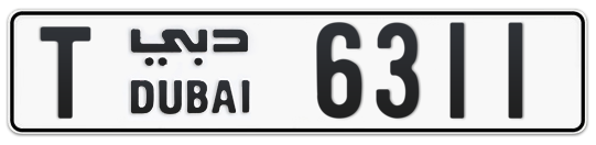 T 6311 - Plate numbers for sale in Dubai