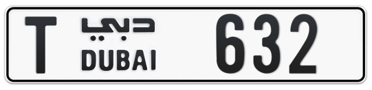 T 632 - Plate numbers for sale in Dubai