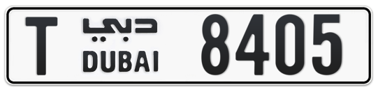 T 8405 - Plate numbers for sale in Dubai