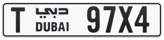 Dubai Plate number T 97X4 for sale on Numbers.ae
