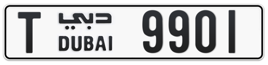 T 9901 - Plate numbers for sale in Dubai