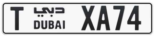 T XA74 - Plate numbers for sale in Dubai