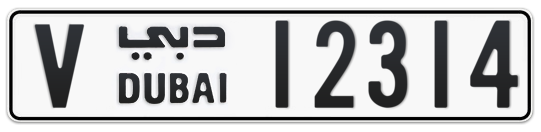V 12314 - Plate numbers for sale in Dubai