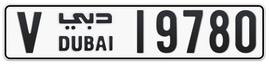 V 19780 - Plate numbers for sale in Dubai
