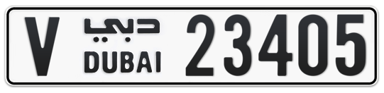 V 23405 - Plate numbers for sale in Dubai
