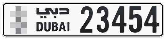* 23454 - Plate numbers for sale in Dubai