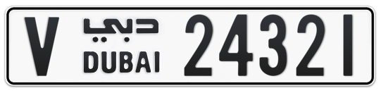V 24321 - Plate numbers for sale in Dubai