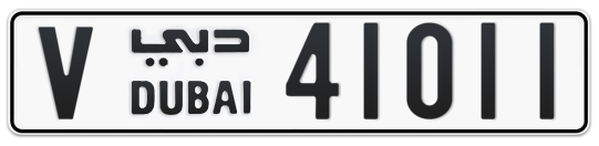 V 41011 - Plate numbers for sale in Dubai