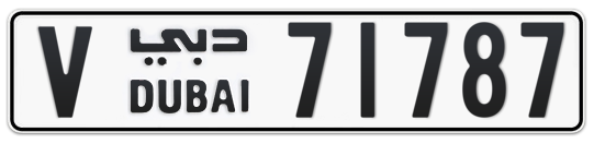 V 71787 - Plate numbers for sale in Dubai