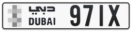 * 971X - Plate numbers for sale in Dubai