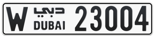 W 23004 - Plate numbers for sale in Dubai