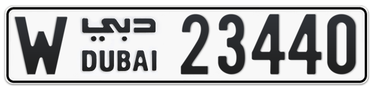 Dubai Plate number W 23440 for sale on Numbers.ae