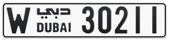 Dubai Plate number W 30211 for sale on Numbers.ae