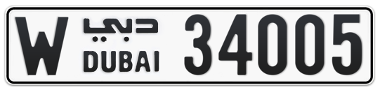 W 34005 - Plate numbers for sale in Dubai