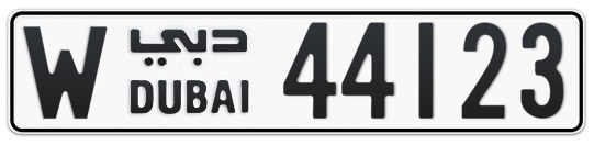 W 44123 - Plate numbers for sale in Dubai